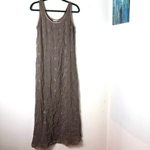Johnny Was Brown Floral Maxi Dress Medium